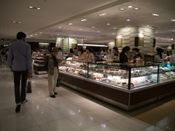 Department store eating.