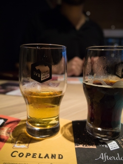 Beer sampling.