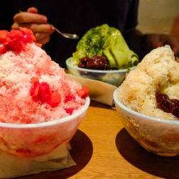 Kakigori (shaved ice).