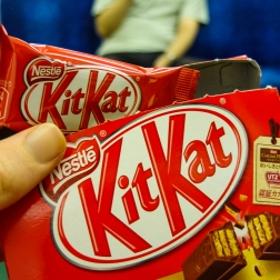 Smaller than fun-sized KitKat.