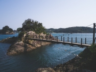 Bravely walking over suspension bridges