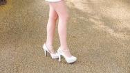 Not walking in high-heels!